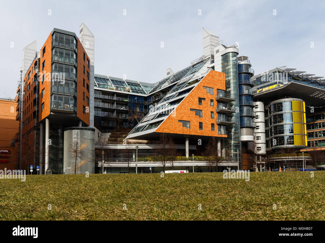 Bürogebäude am Potsdamer Platz 20150224 8. Stockbild