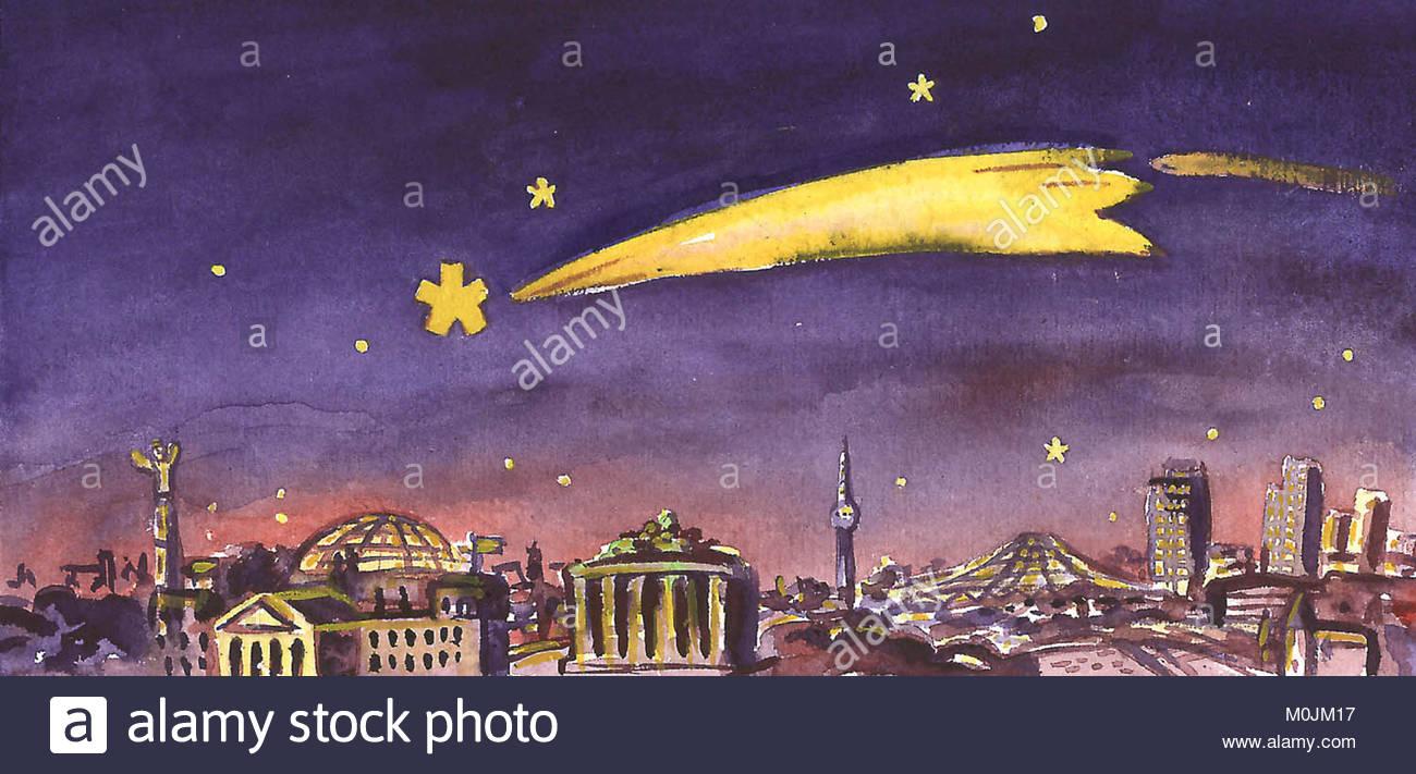 Weihnachten in Berlin Stockbild