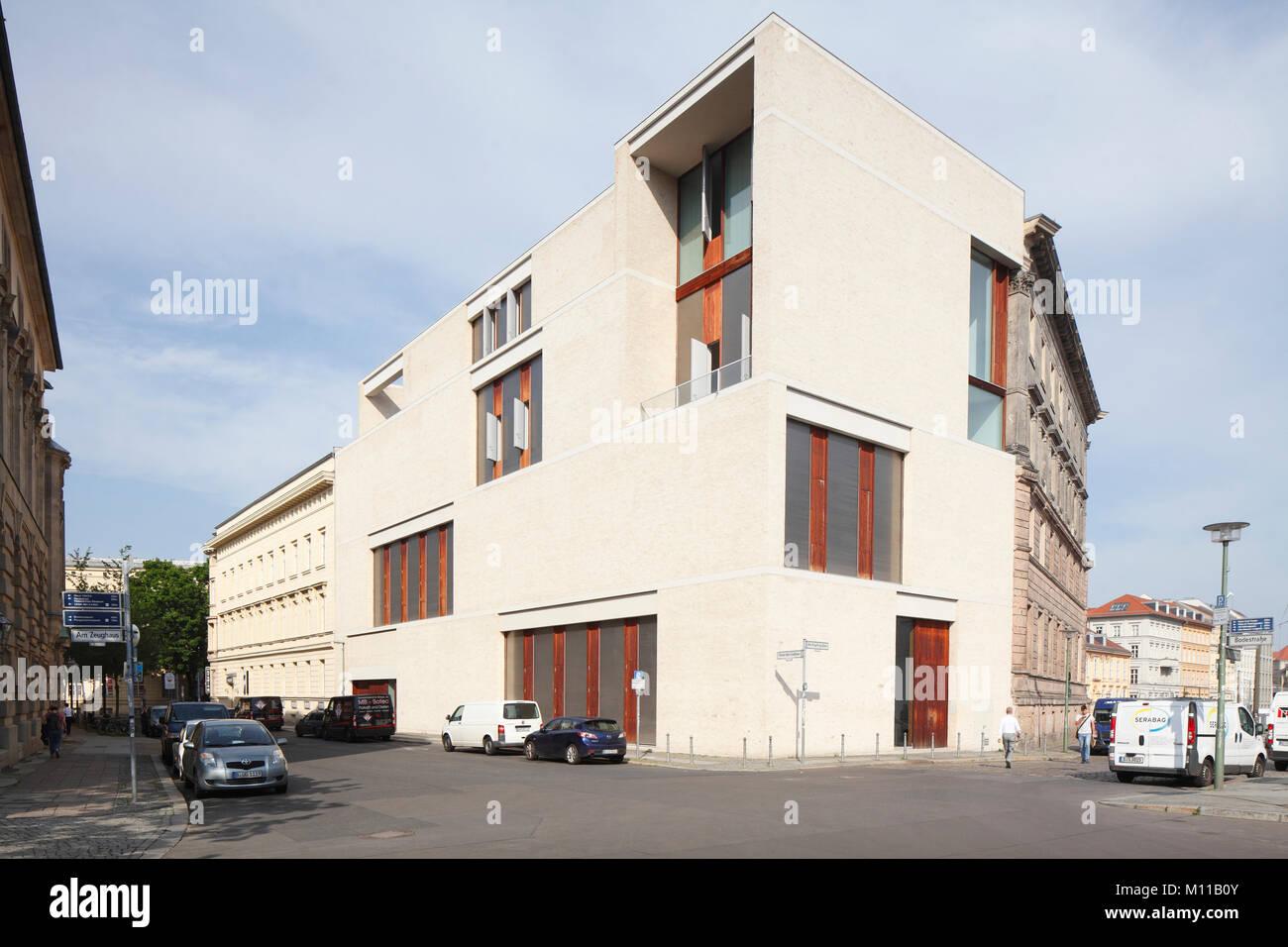 Moderne Architektur am Kupfergraben Straße, Berlin, Deutschland, Europa ich Galerie am Kupfergraben, Architekt Stockbild