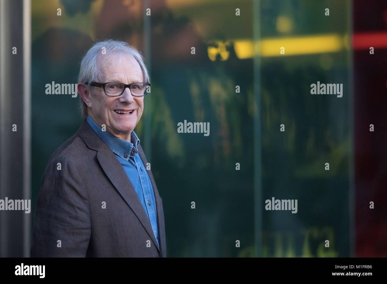 Barcelona, Spanien. 30 Jan, 2018. Britische kino Regisseur Ken Loach nimmt an der Präsentation seines Films Stockbild