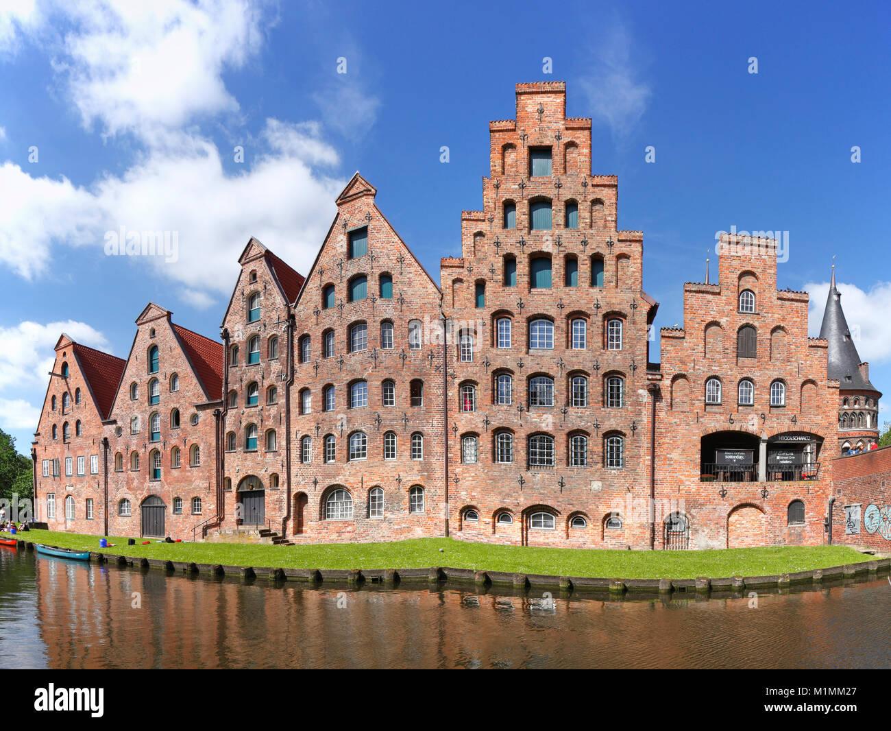 Historische Salzspeicher, Lübeck, Schleswig-Holstein, Deutschland, Europa Stockbild