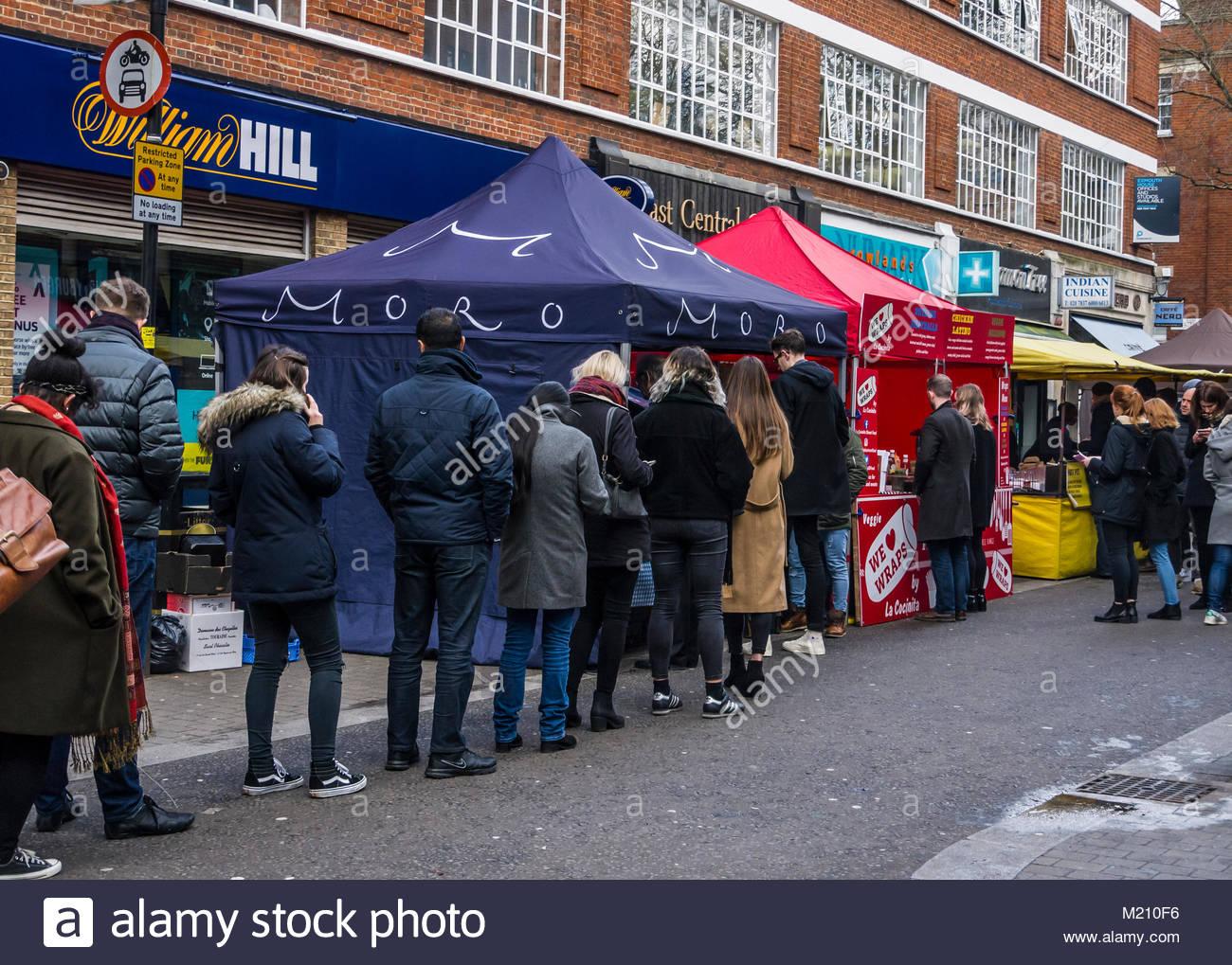 Exmouth Markt Stadt London England Großbritannien Stockbild