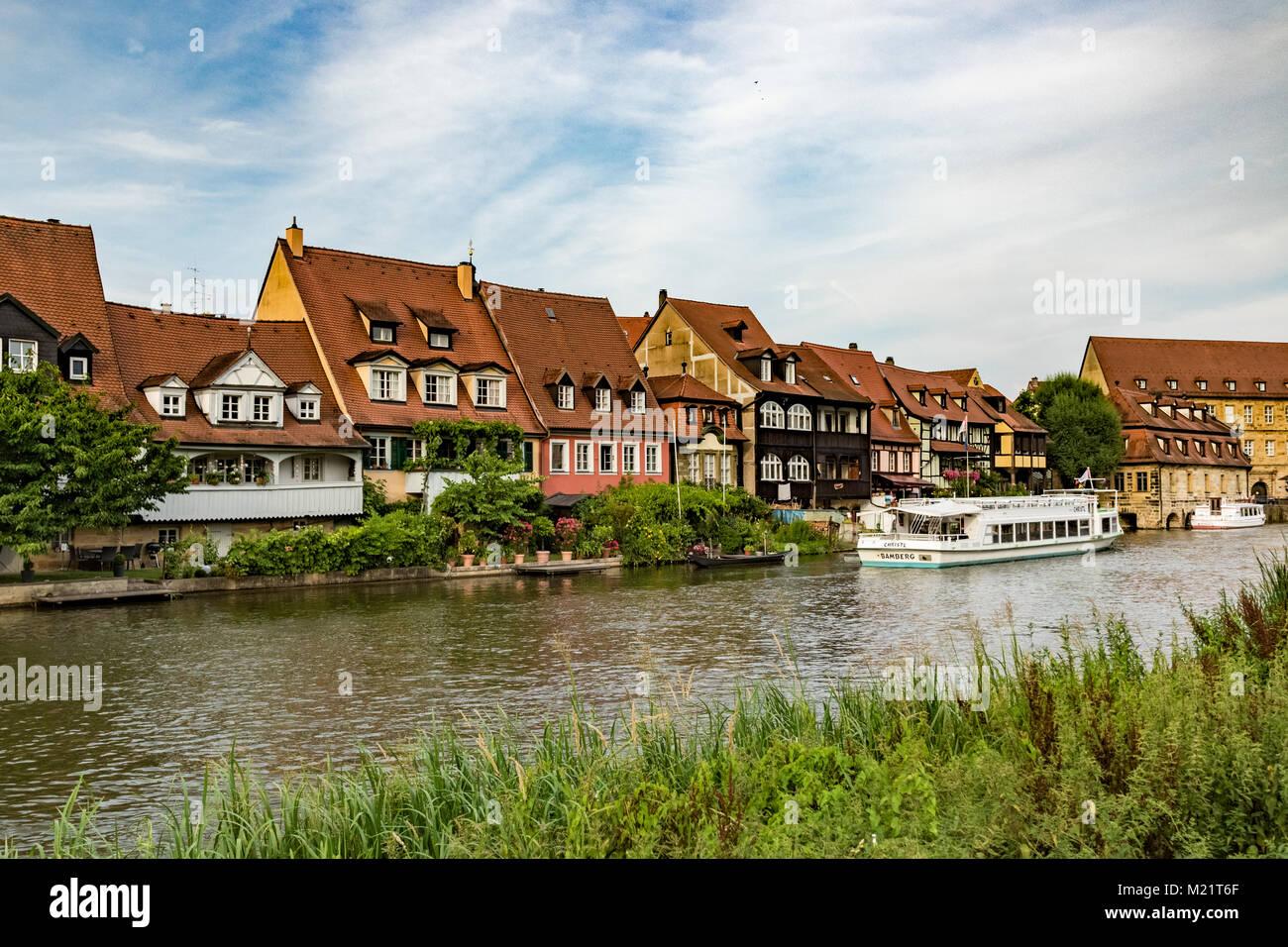 Das historische Fischersiedlung Klein-Venedig in Bamberg. Stockbild