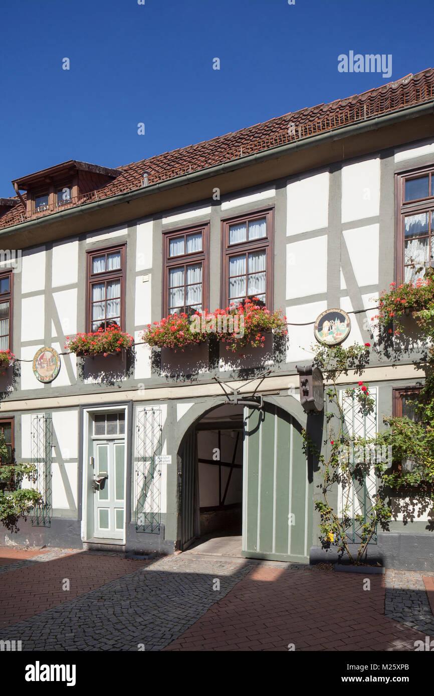 Alte Half-Timbered Haus, Altstadt, Hildesheim, Niedersachsen, Deutschland, Europa Ich historisches Fachwerkhaus, Stockbild