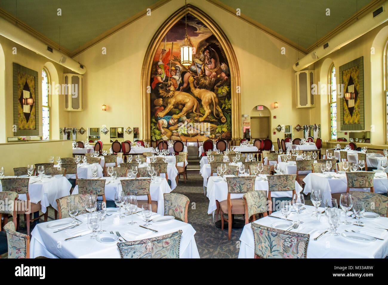 Pennsylvania Bucks County New Hope Marsha Brown Restaurant gehobene Küche kreolischen Küche umgewandelt Stockbild