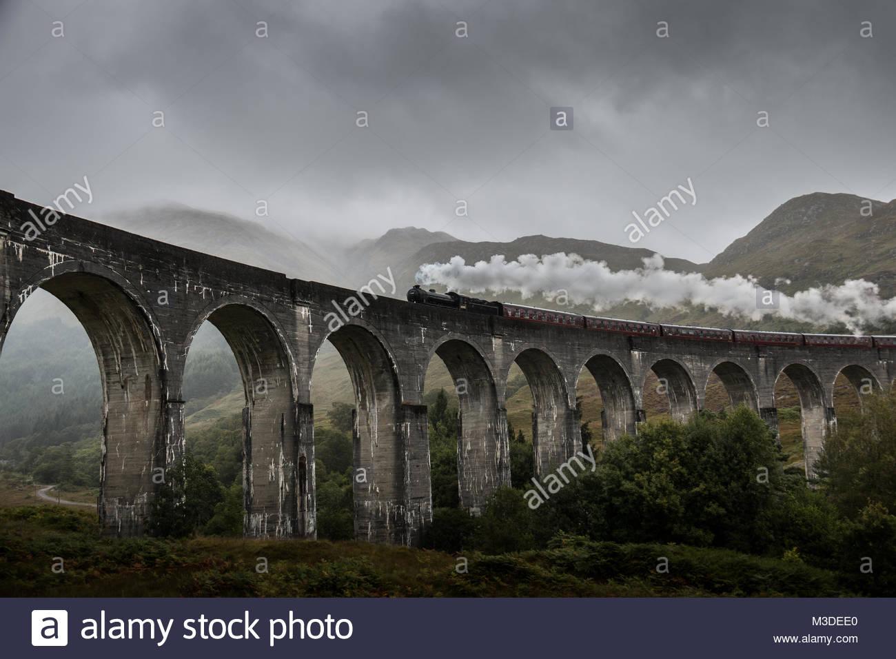Harry Potter Zug nach Hogwarts Stockbild