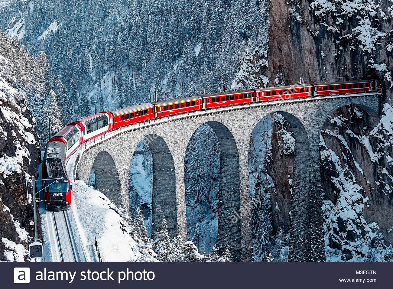 Landwasser Viadukt Stockbild