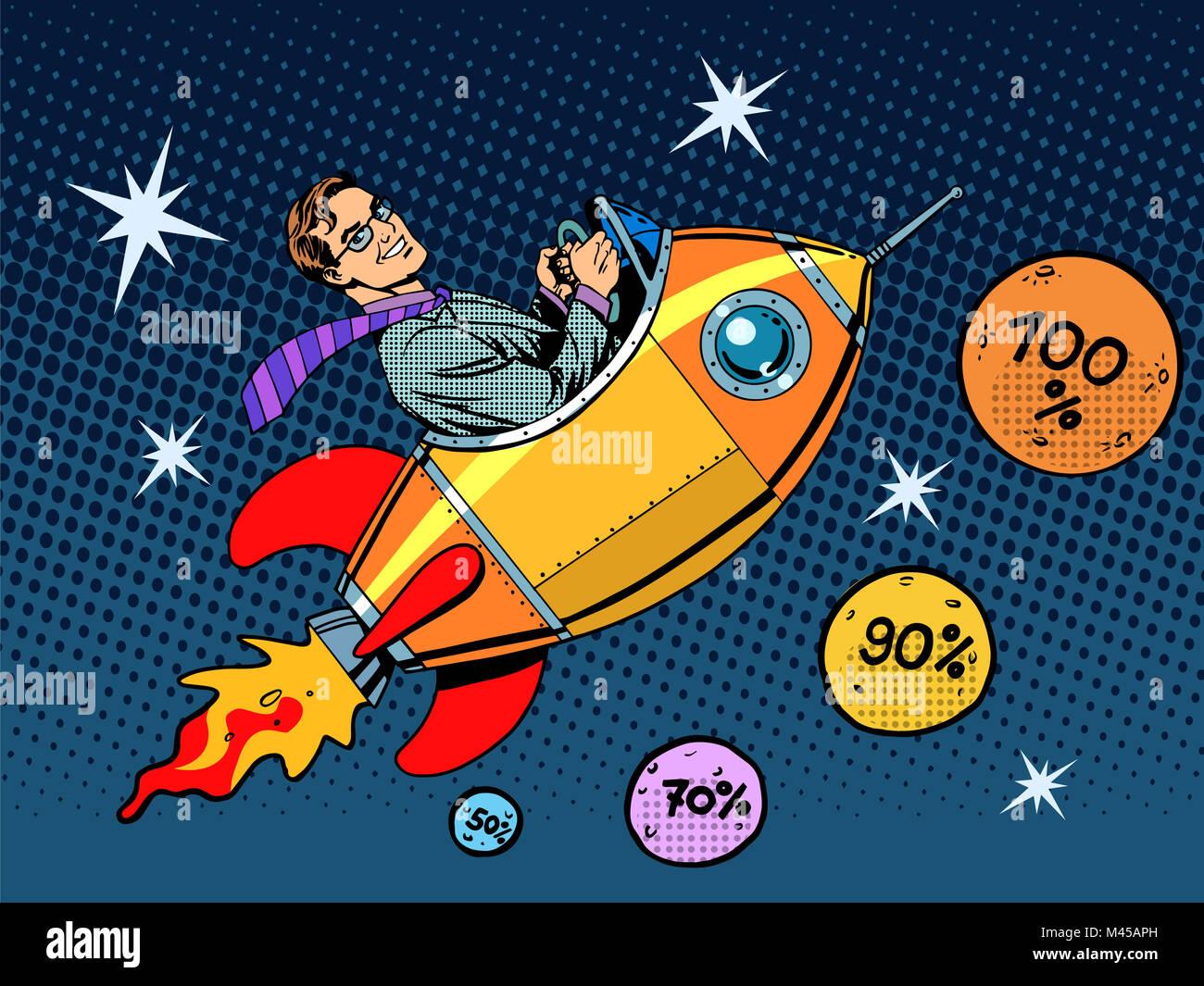 Raum Closeout Business Konzept Wachstum bei Umsatz und Interesse Stockbild