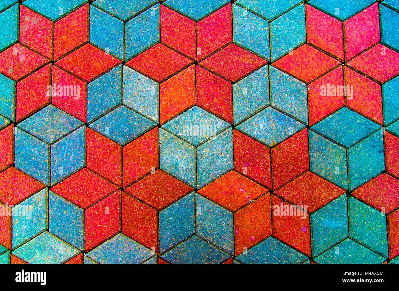 Bunte Alte Stein Mosaik An Der Wand Helle Fliesen Stockfoto Bild - Alte mosaik fliesen