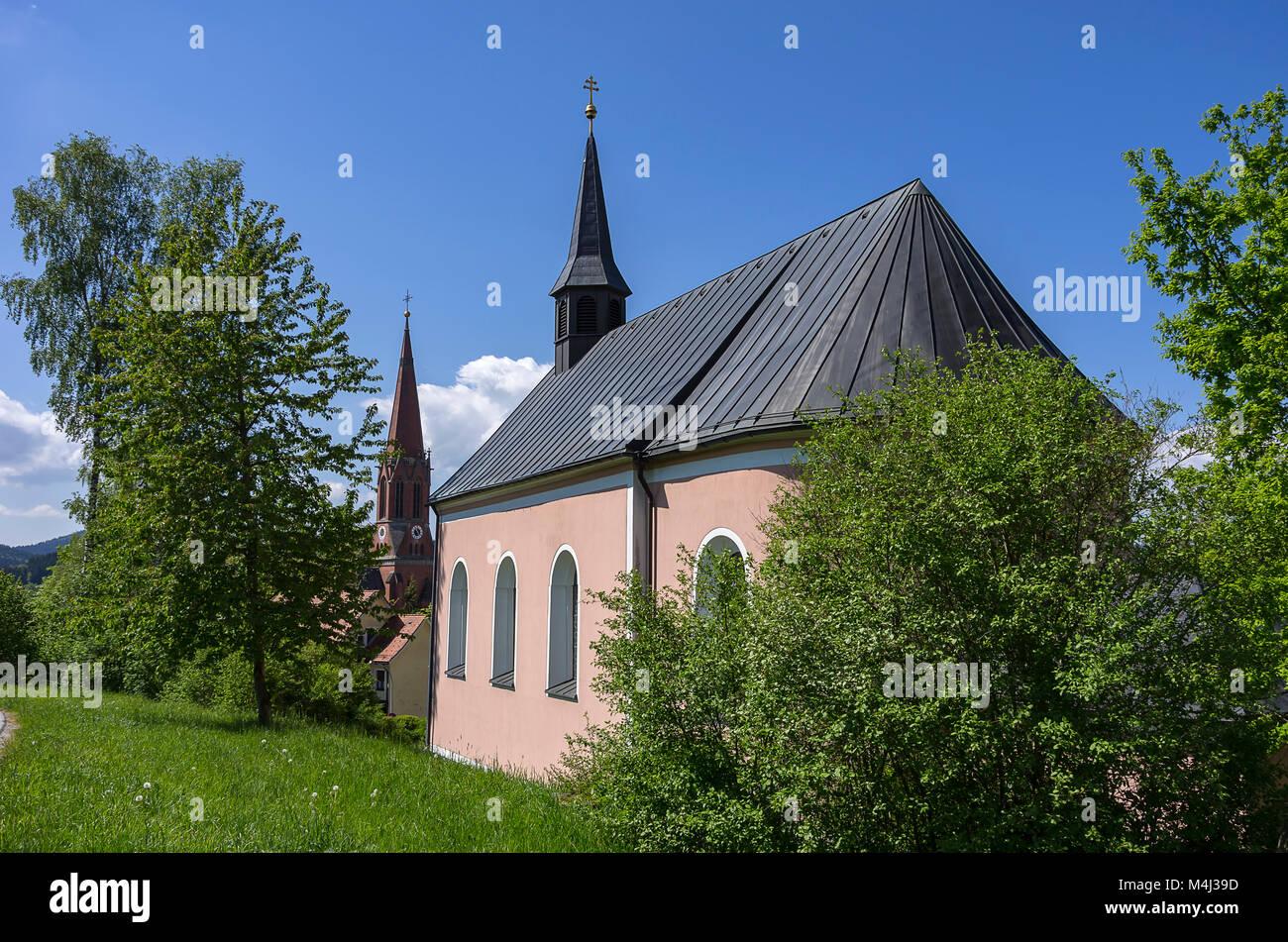 Die Wallfahrtskirche von Maria der Name (Maria Namen) in Zwiesel, Bayerischer Wald, Bayern, Deutschland. Stockbild