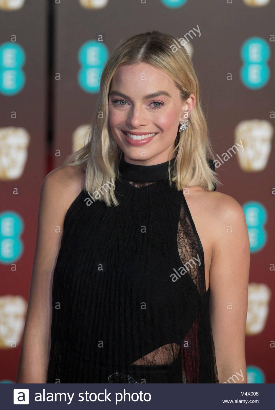 London, Großbritannien. 18. Feb 2018. Margot Robbie bei den BAFTA Awards sind in der Royal Albert Hall in London Stockfoto