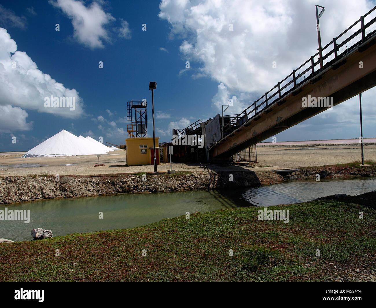 Salt Pier Bonaire Stockbild