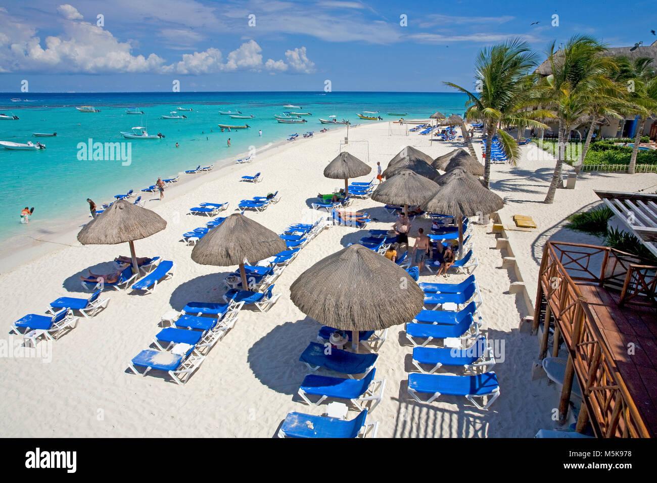 Strand von Playa del Carmen, Mexiko, Karibik | Strand von Playa del Carmen, Mexiko, Karibik Stockbild