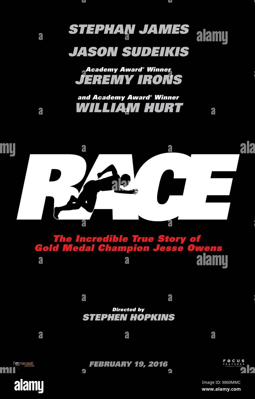 Filmplakat RACE (2016) Stockbild