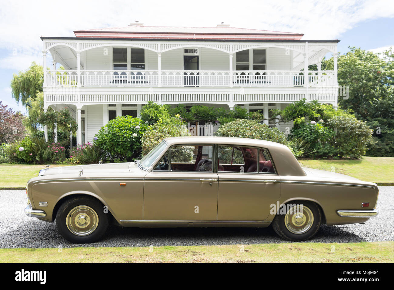 1971 Bentley Sudan, Homesdale Haus, Rakaia, Canterbury, Neuseeland Stockbild