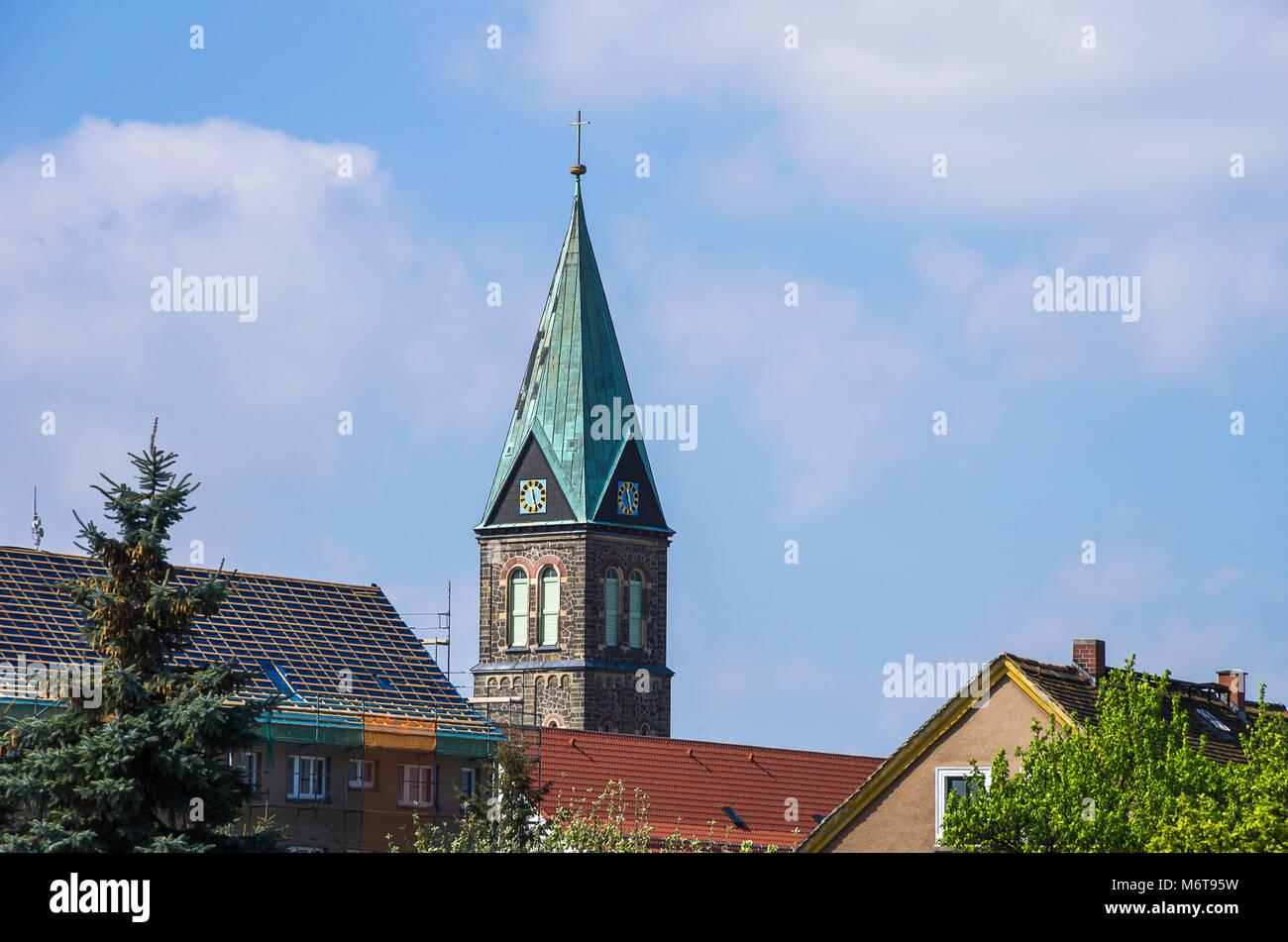 Kirche Maria Rosenkranzkönigin in der sorbischen Dorf in der Nähe von radibor Bautzen, Sachsen, Oberlausitz, Stockbild