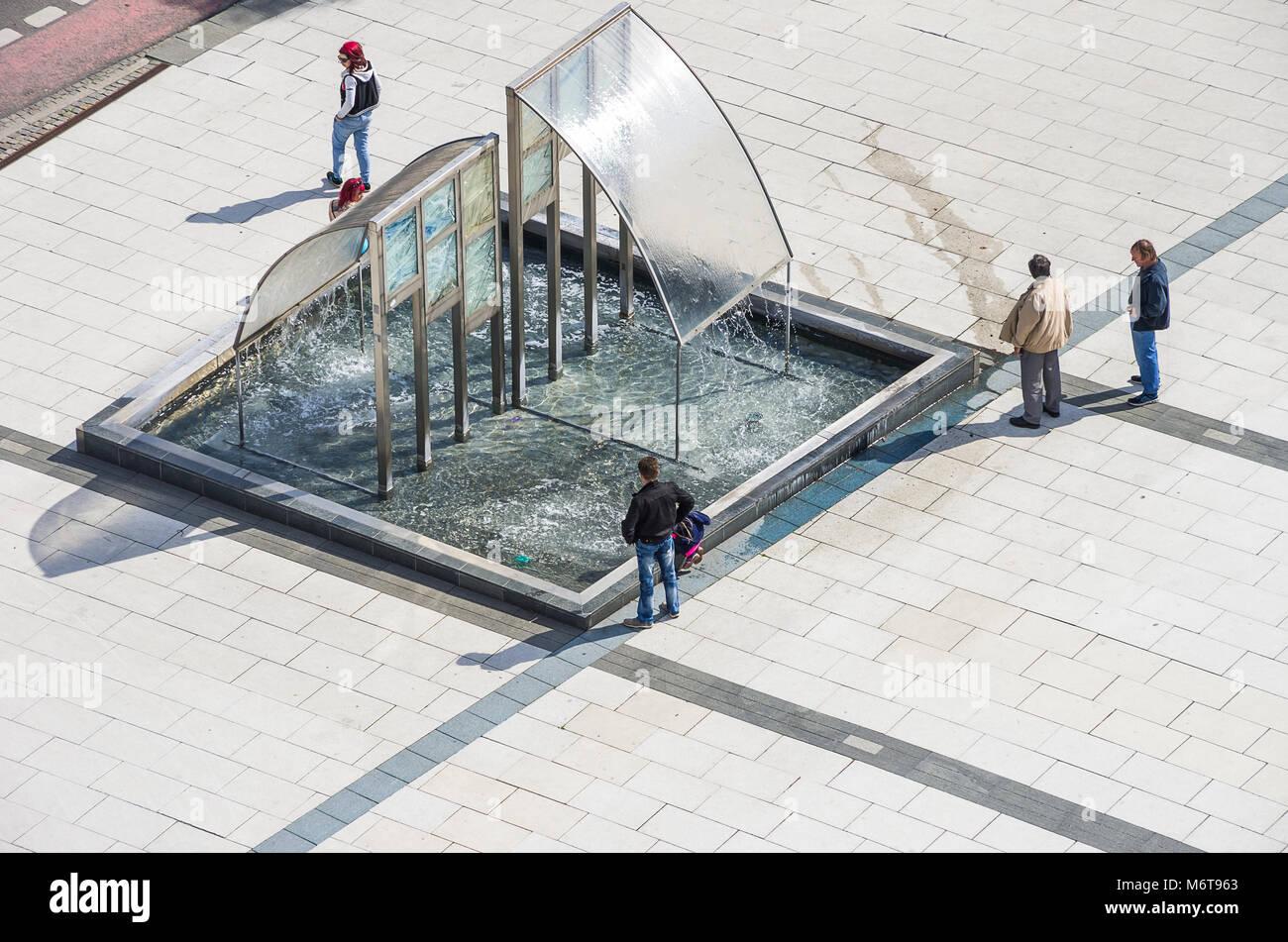 Bautzen, Oberlausitz, Sachsen, Deutschland - Blick auf den Kornmarkt vom Reichenturm Turm gesehen. Stockbild