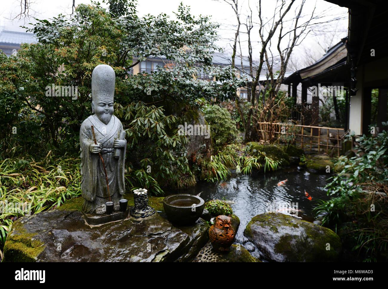 Der Schöne Garten Im Yamabiko Ryokan In Kurokawa Onsen, Japan.