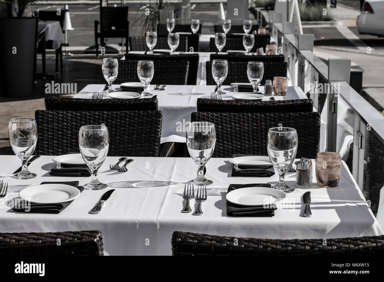 Fine Dining B&W Stockbild