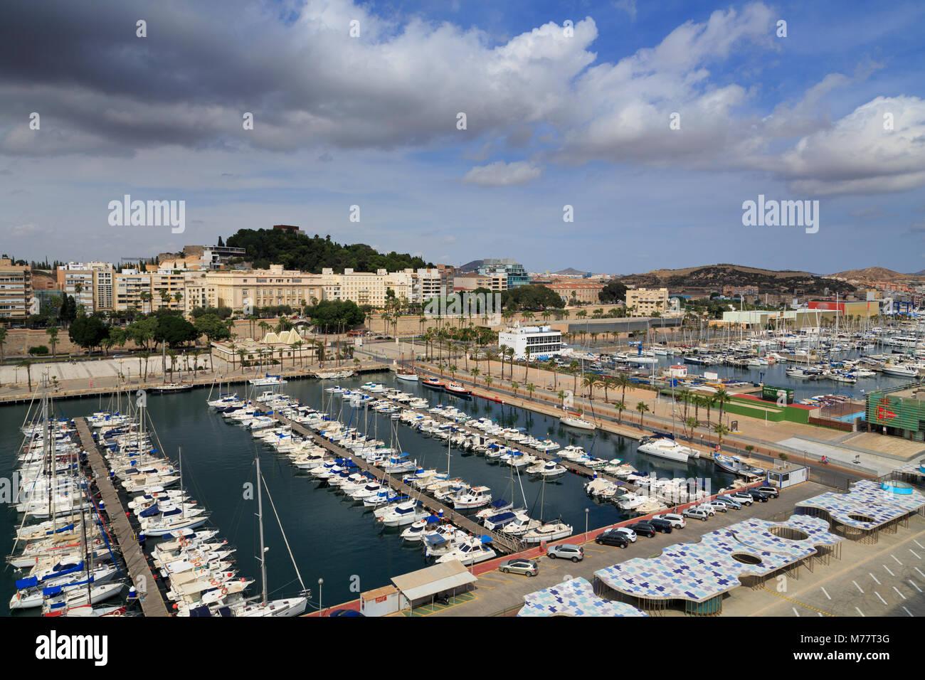Yacht Marina, Cartagena, Murcia, Spanien, Europa Stockbild
