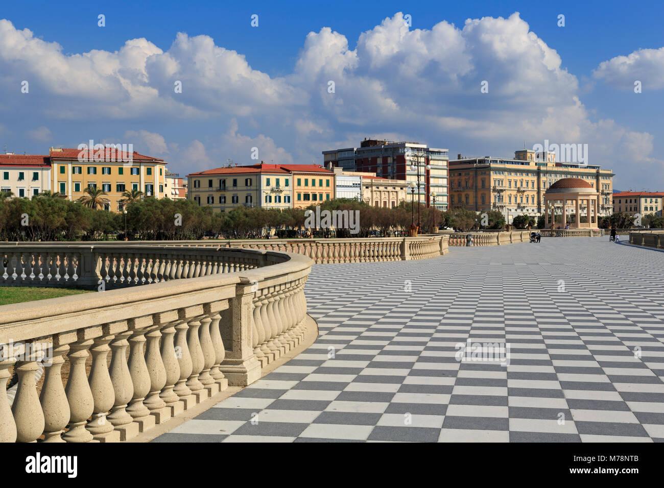 Terrazza Mascagni, Livorno, Toskana, Italien, Europa Stockbild