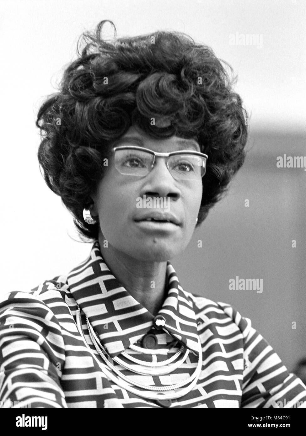 Shirley Chisholm (1924-2005). Portrait von Shirley Anita Chisholm, der erste schwarze Frau auf dem Kongress der Stockbild