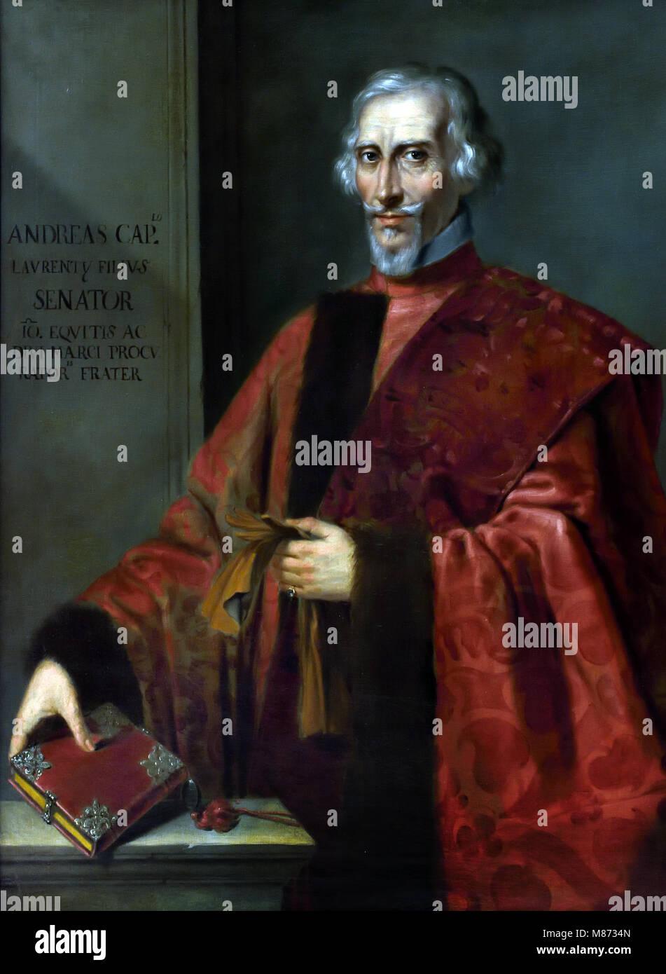 Portrait von Senator Andrea Cappello (1586-1663) Anonyme venezianischen Stil des 17. Jahrhunderts, Italienisch, Stockbild
