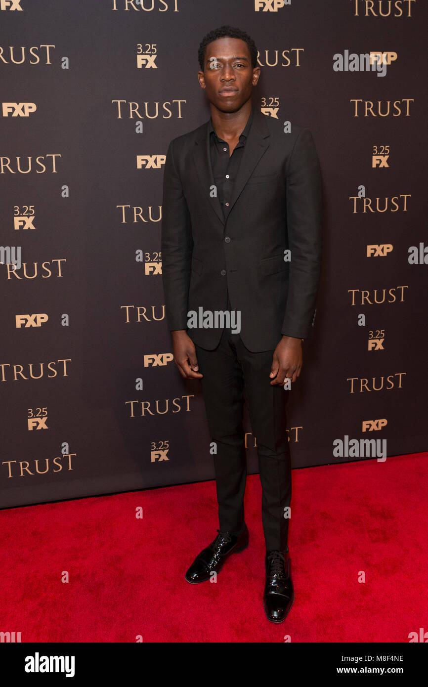 New York, NY - 15. März 2018: Damson Idris besucht FX jährliche All-Star-Party an der SVA Theater Stockbild