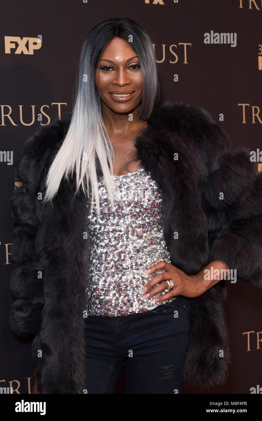 New York, NY - 15. März 2018: Dominique Jackson besucht FX jährliche All-Star-Party an der SVA Theater Stockbild