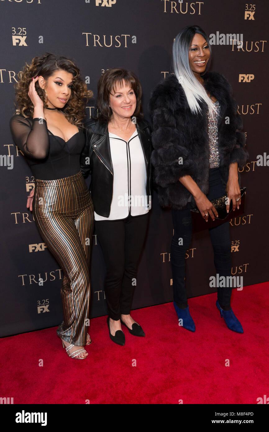 New York, NY - 15. März 2018: hailie Sahar, Sherry, Marsh, Dominique Jackson besuchen FX jährliche All Stockbild