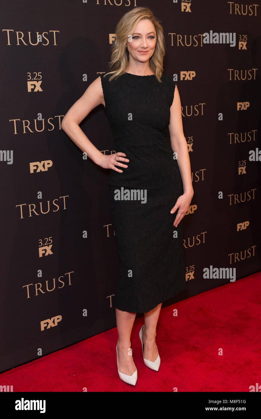 New York, NY - 15. März 2018: Judy Greer besucht FX jährliche All-Star-Party an der SVA Theater Stockbild