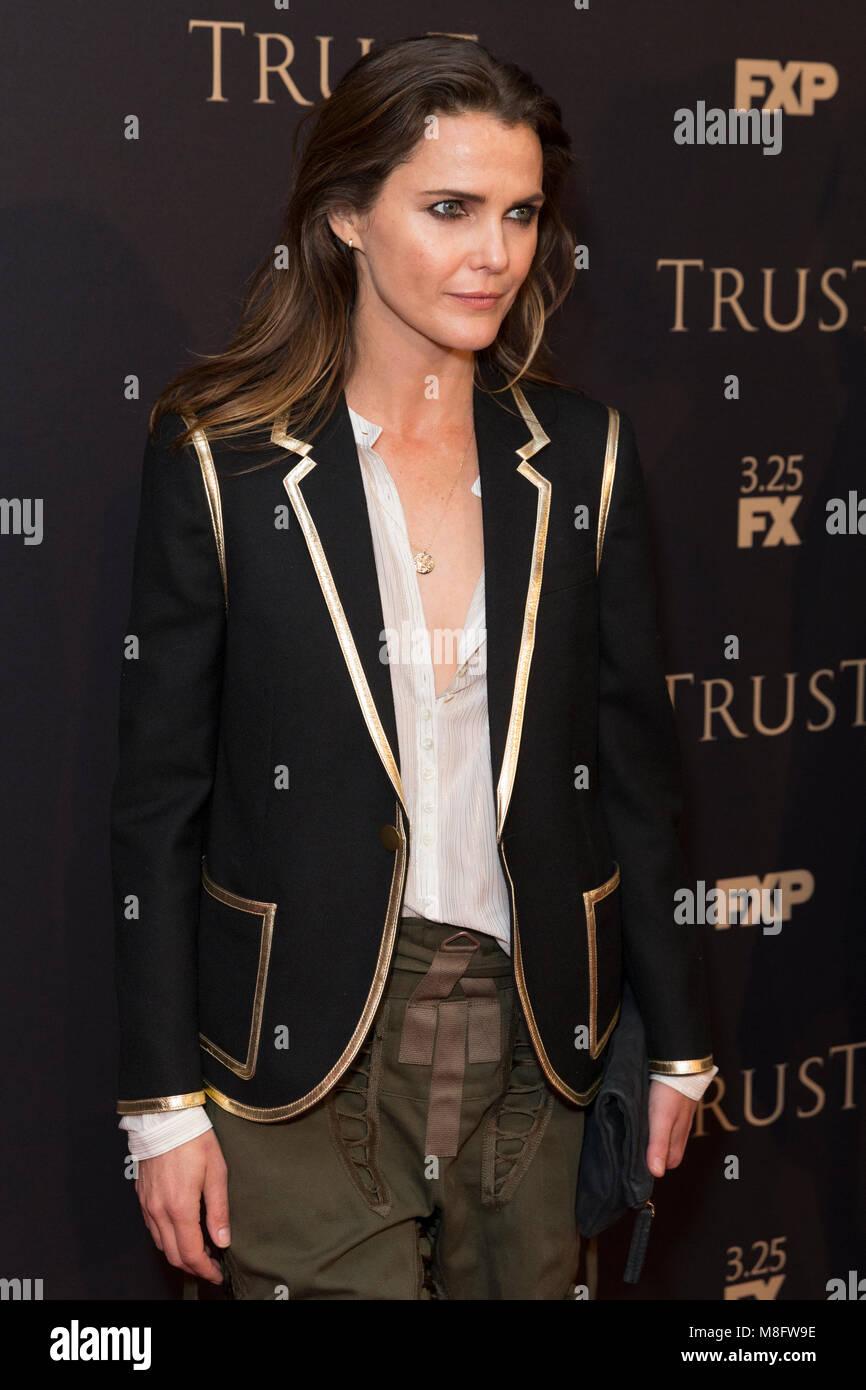 New York, NY - 15. März 2018: Keri Russell besucht FX jährliche All-Star-Party an der SVA Theater Stockbild