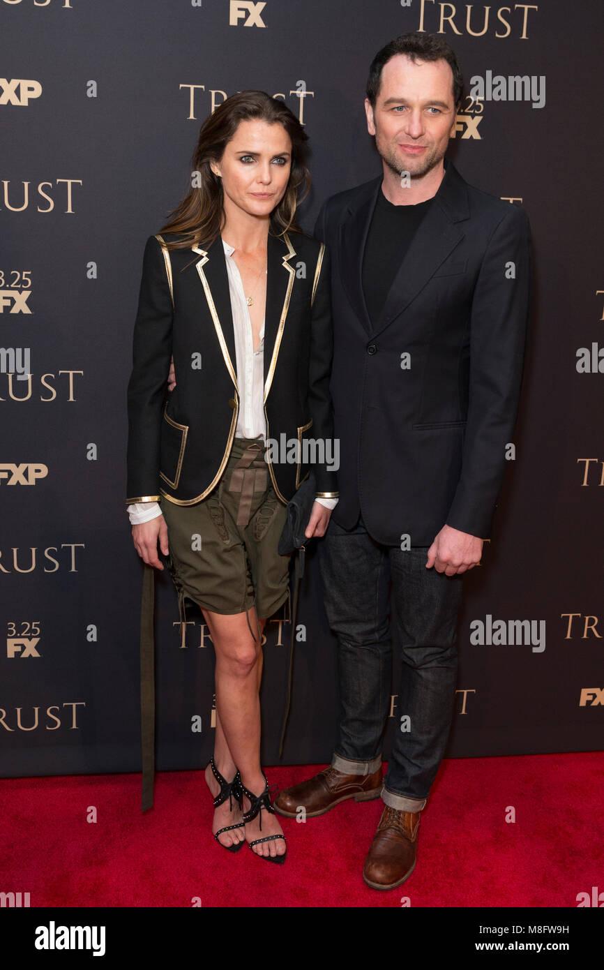 New York, NY - 15. März 2018: Keri Russell und Matthew Rhys besuchen FX jährliche All-Star-Party an der Stockbild