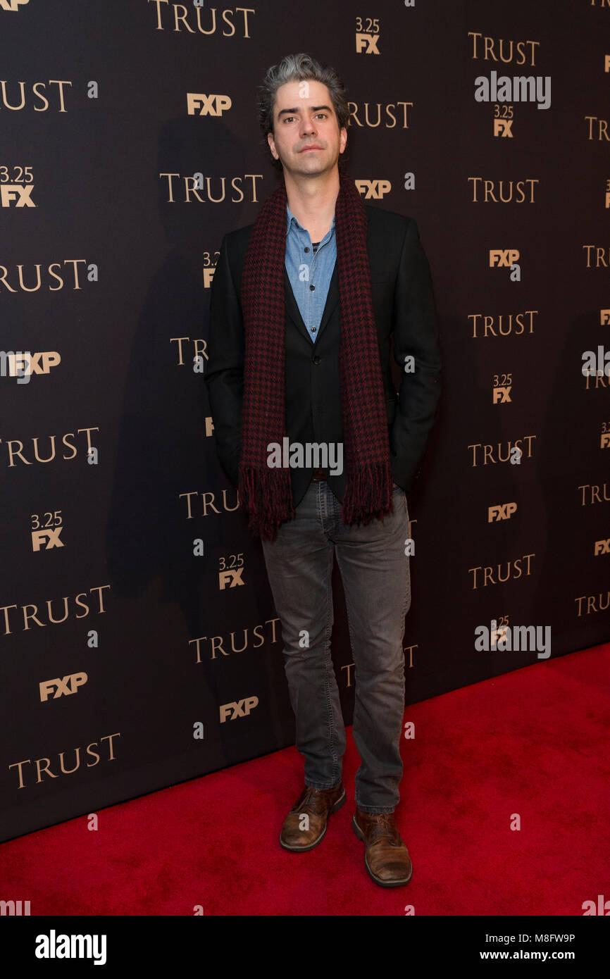 New York, NY - 15. März 2018: Hamish Linklater besucht FX jährliche All-Star-Party an der SVA Theater Stockbild