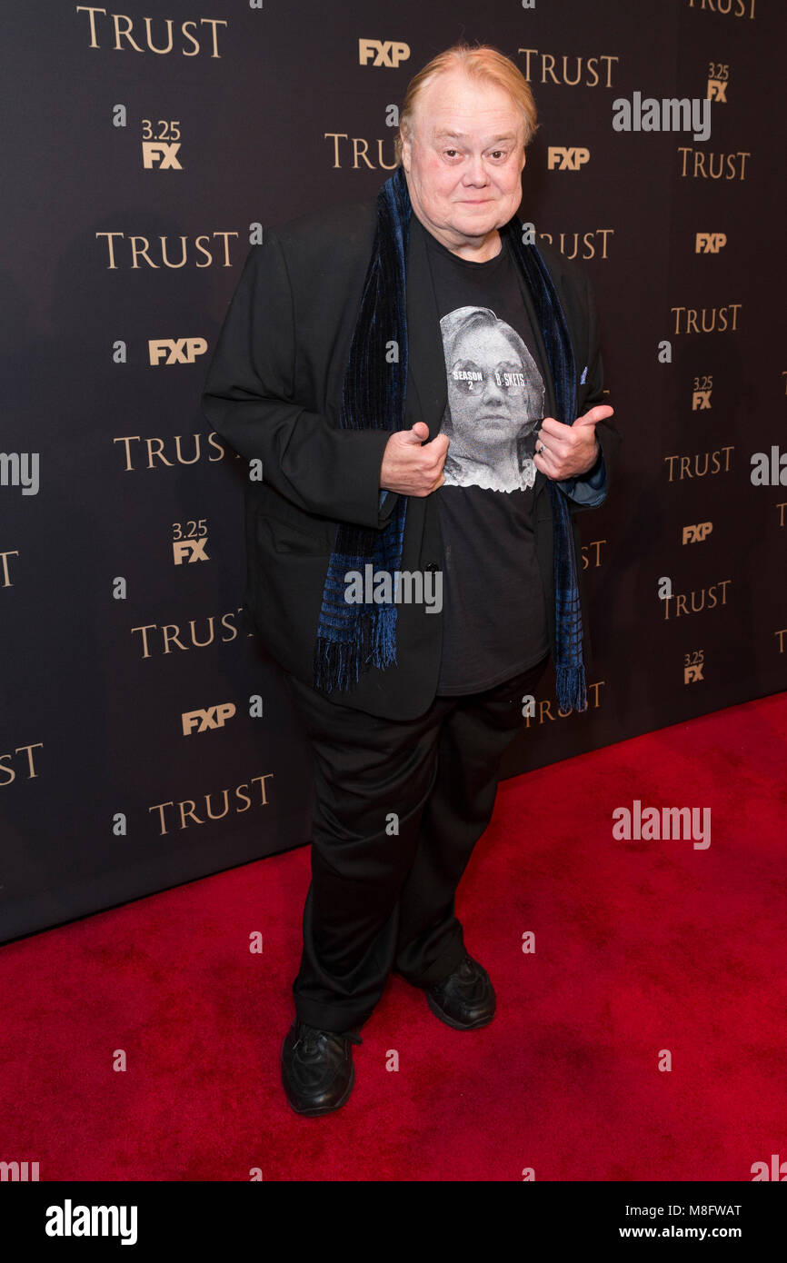 New York, NY - 15. März 2018: Louie Anderson besucht FX jährliche All-Star-Party an der SVA Theater Stockbild