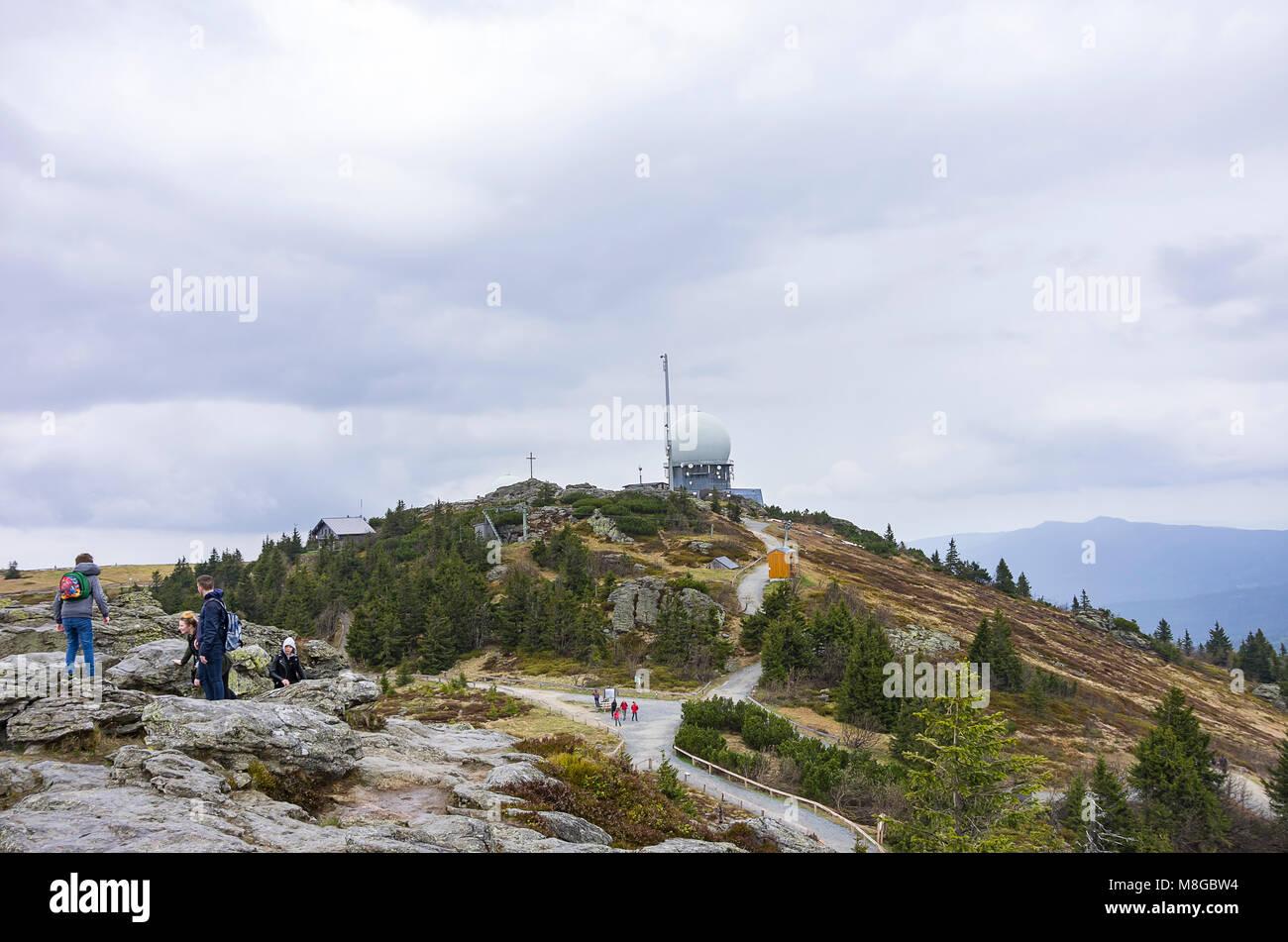 Impressionen vom Großen Arber (Großer Arber), Bayerischer Wald, Bayern, Deutschland. Stockbild