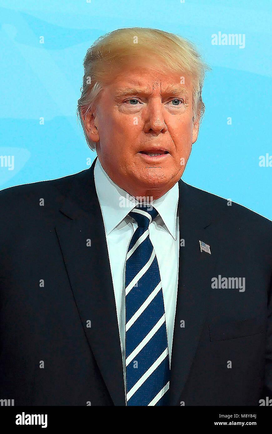 Donald John Trump - * 14.06.1946 - 45. Präsident der Vereinigten Staaten von Amerika. Stockbild