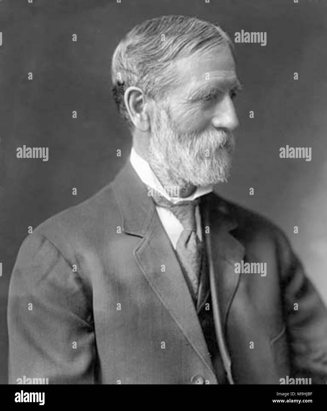 Oscar Freelan Stanley (1849-1940) amerikanischer Erfinder, beste erinnert als der Mitbegründer, zusammen mit seinem Bruder Francis Edgar Stanley, der Stanley Motor Carriage Company, die mit Dampf betriebene gebaut bis 1920 Stockbild