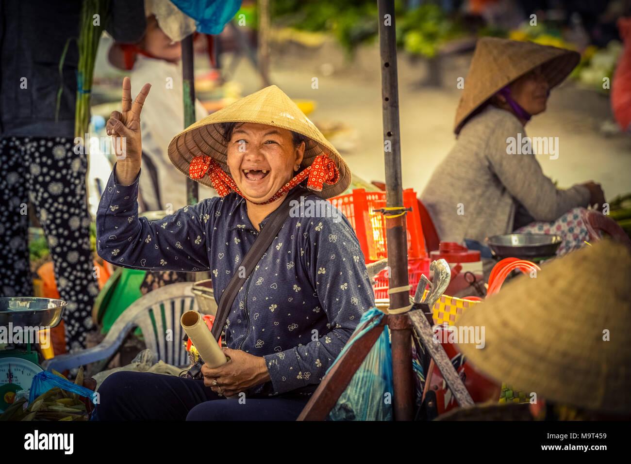 Asien, Südostasien, Südvietnam, Vietnam, Mekong, Delta, Markt Stockbild