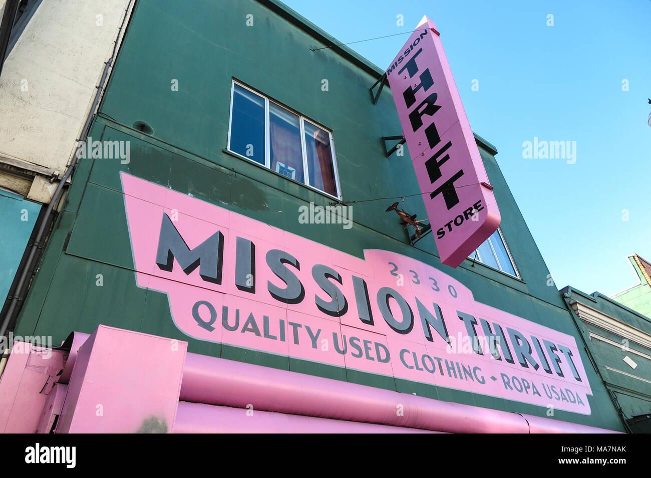 Thrift Shop San Francisco Stockbild