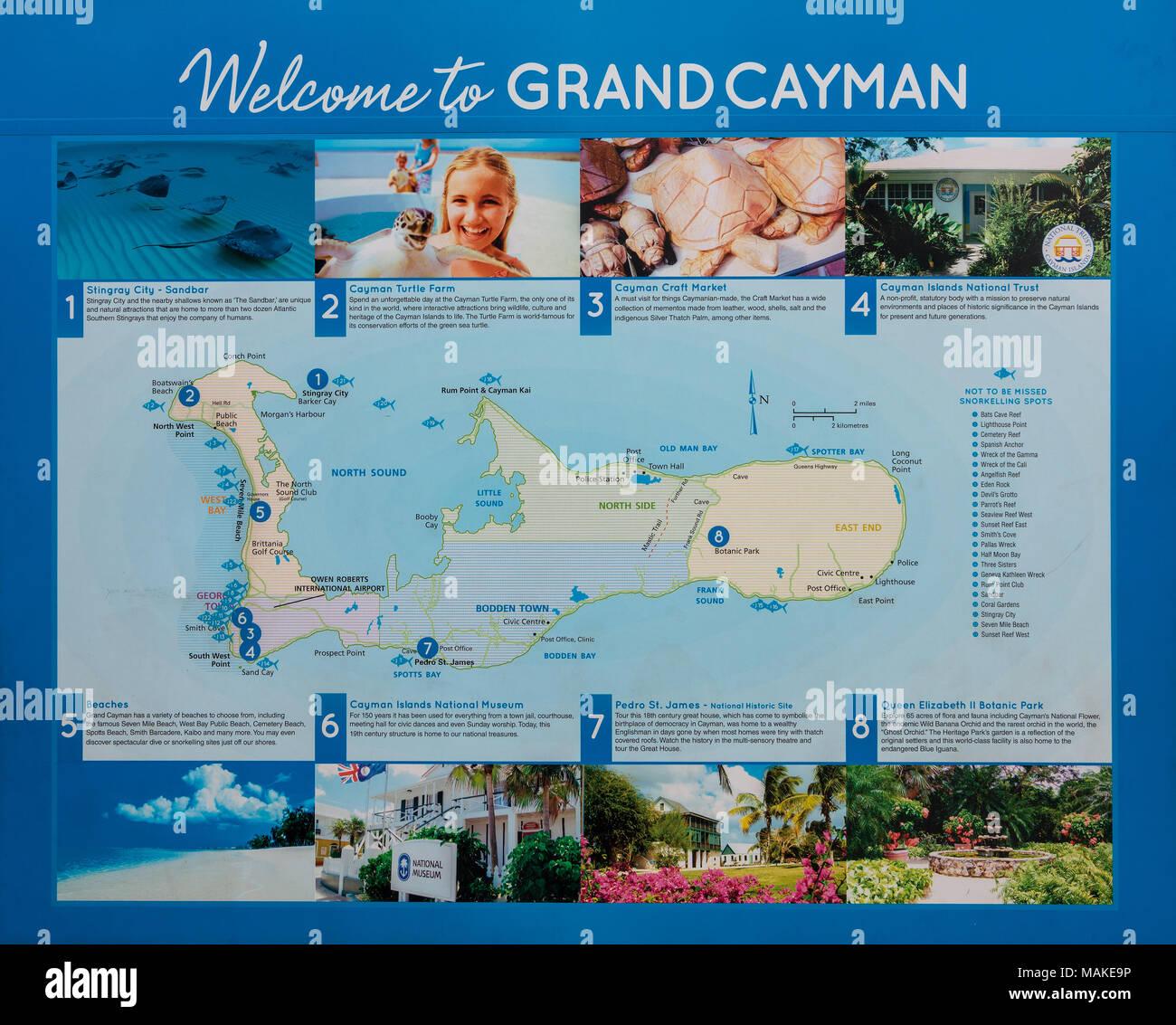 Grand Cayman Stockbild