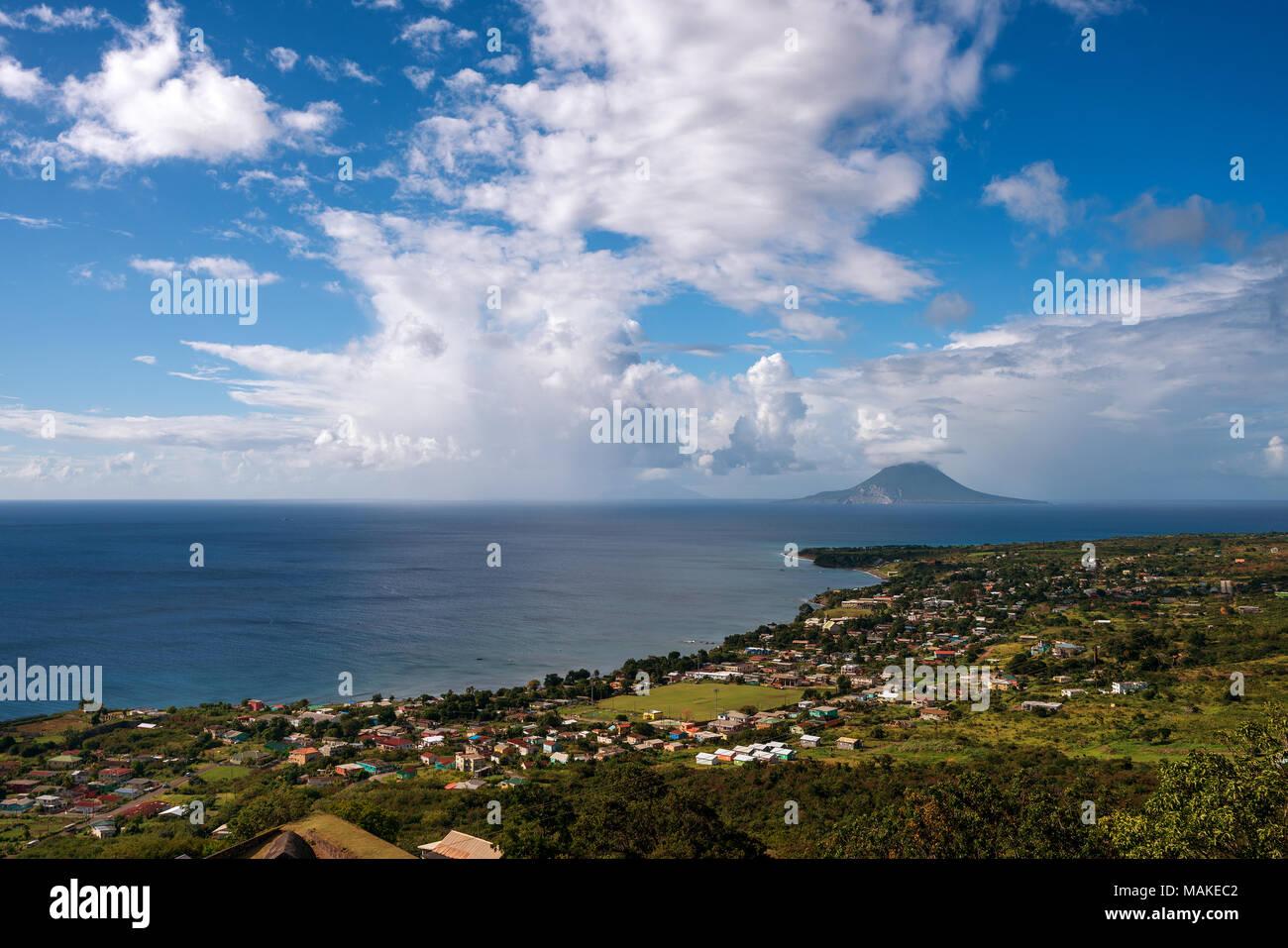 Föderation von Saint Kitts und Nevis Föderation St. Kitts und Nevis Stockbild