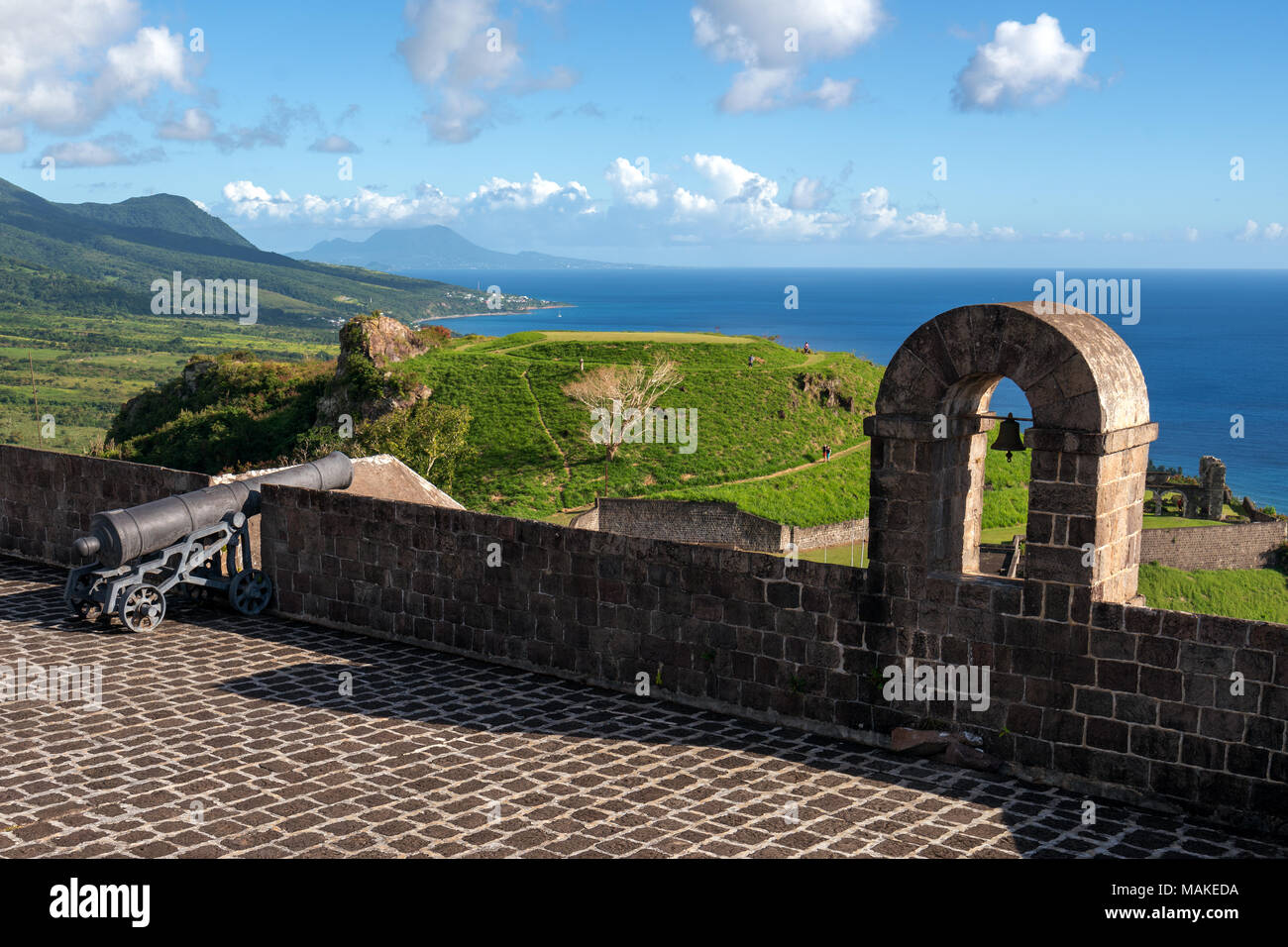 Brimstone Hill Fortress National Park. Stockbild