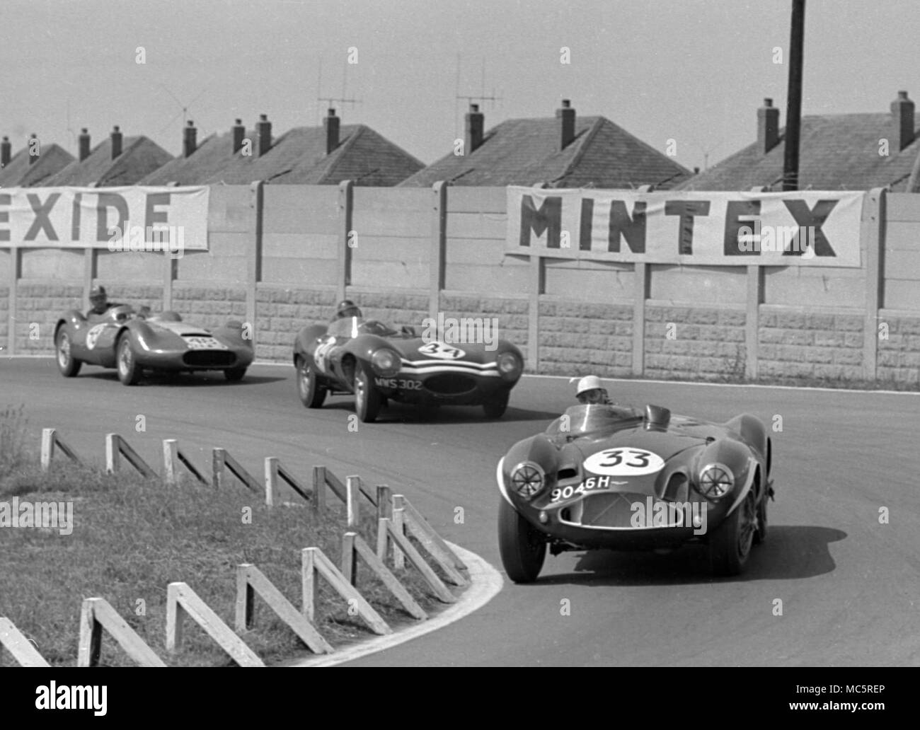 Aston Martin DB 3 S Roy Salvadori, Aintree BARC 100 Internationale 23/06/1956 Stockbild
