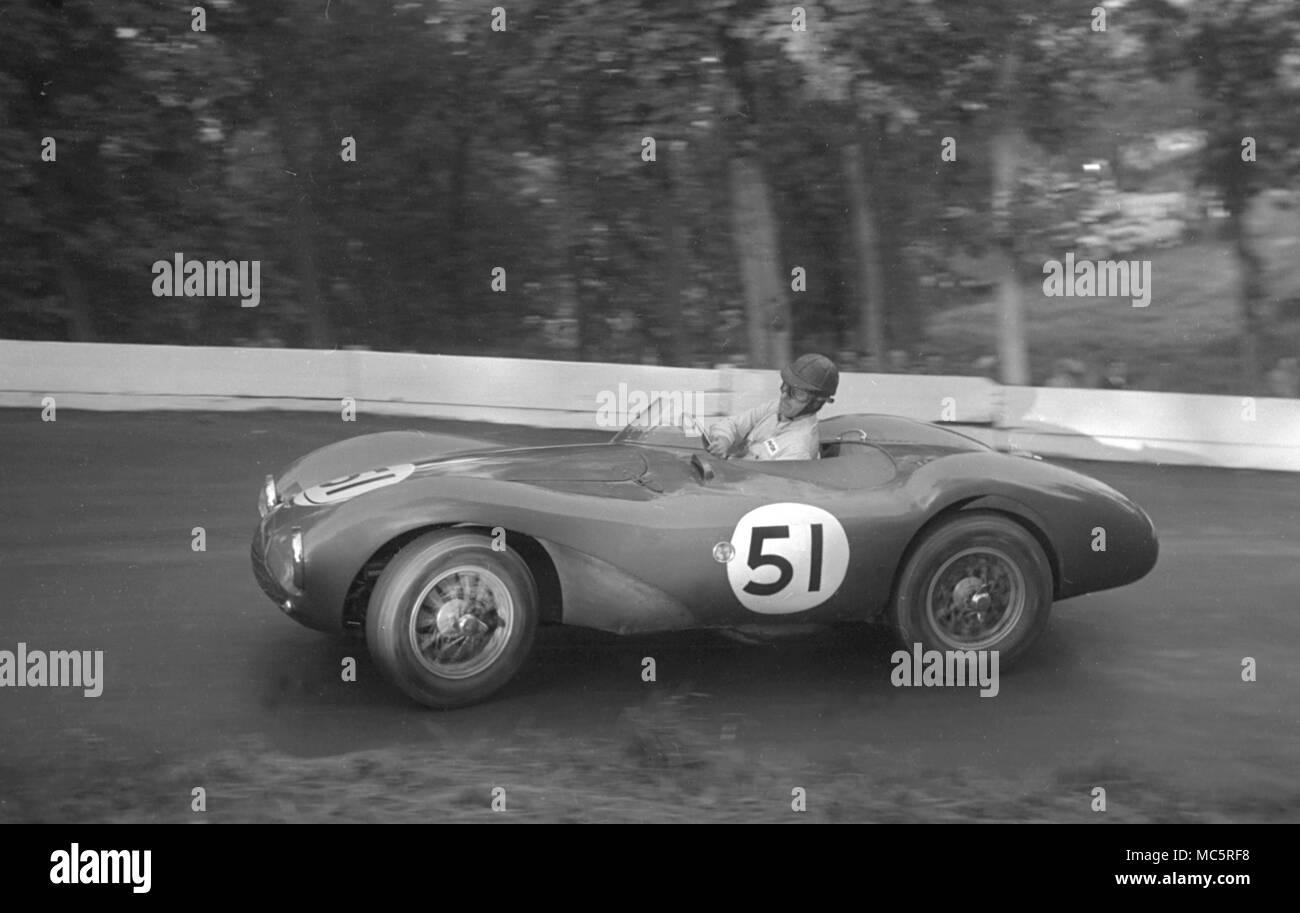 Aston Martin DB 3 S Dennis Poore, Prescott 19/09/1954 Stockbild