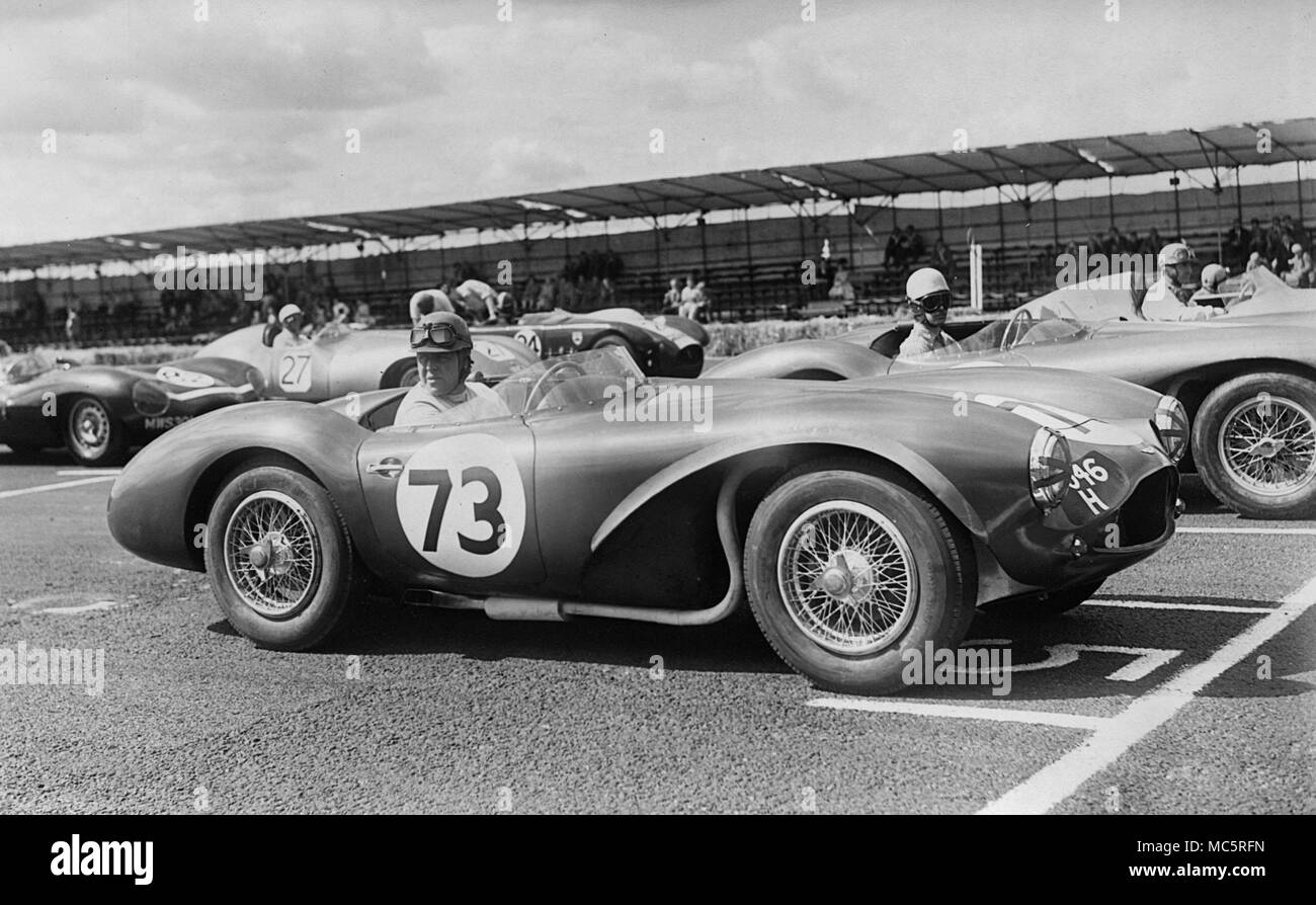 Aston Martin DB 3 S, Reg Parnell. Charterhall Newcastle Journal International Trophy. 6.8.1955 Stockbild