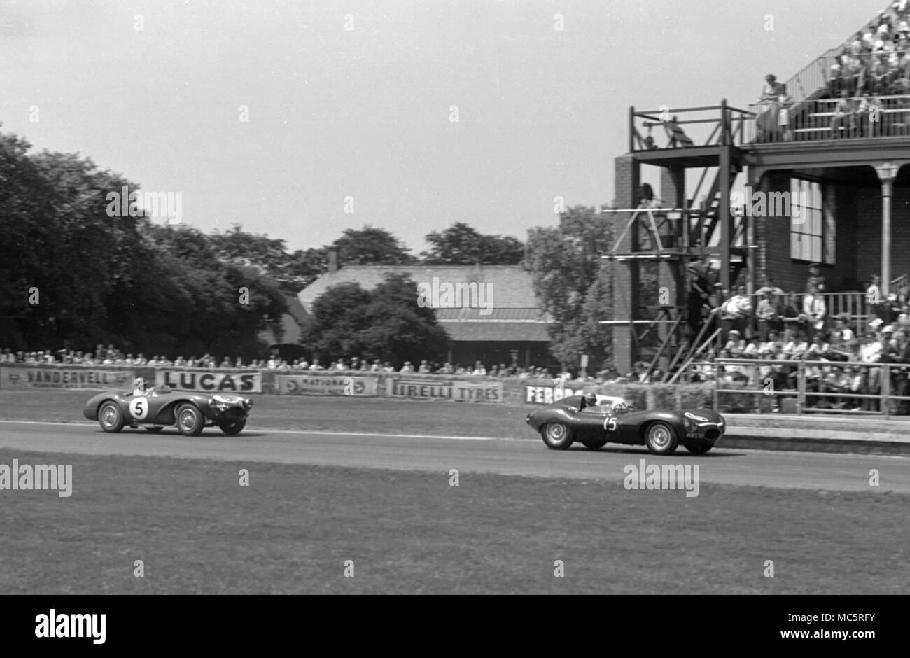 Aston Martin DB 3 S REg Parnell, Aintree 16/07/1955 Stockbild