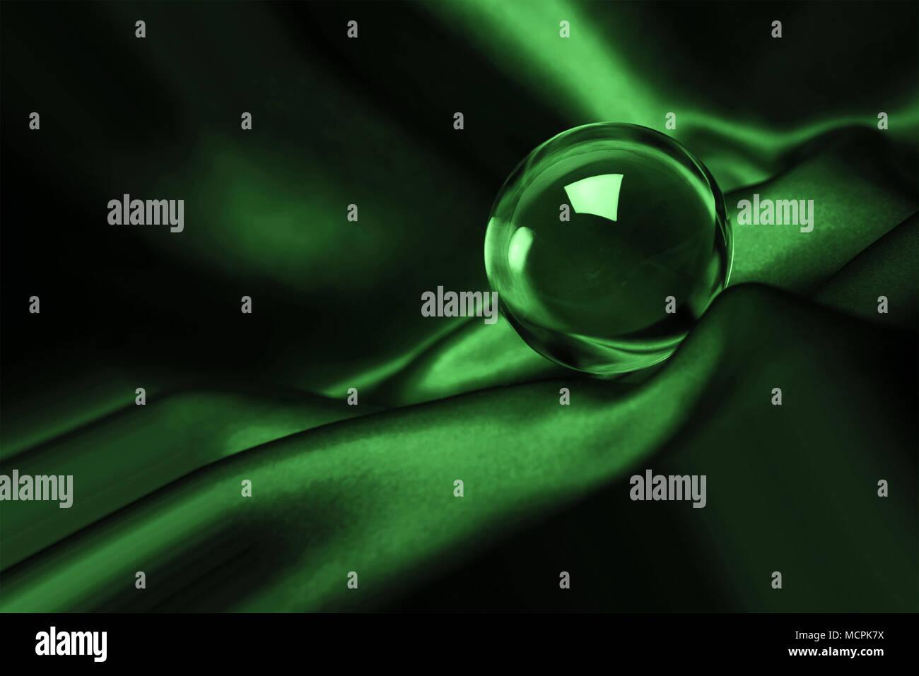 Abstrasct leuchtende Kristallkugel futuristischen Hintergrund Stockbild