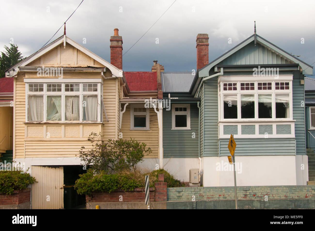 South Hobart Straßenbild, Hobart, Tasmanien, Australien Stockbild