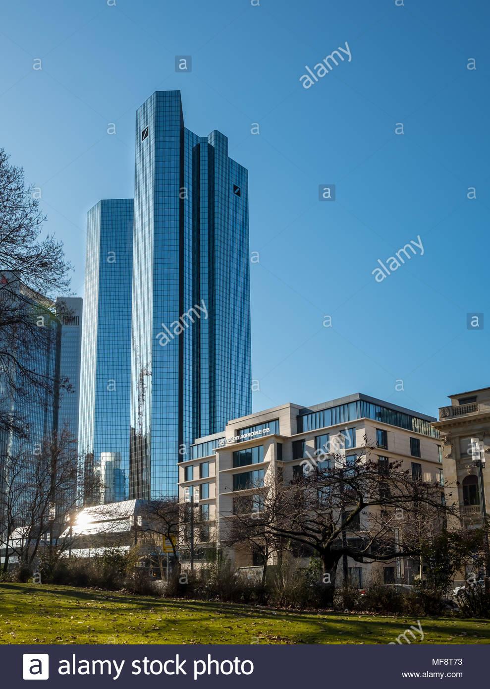 Deutsche Bank Gebäude in Frankfurt am Main Deutschland Stockbild